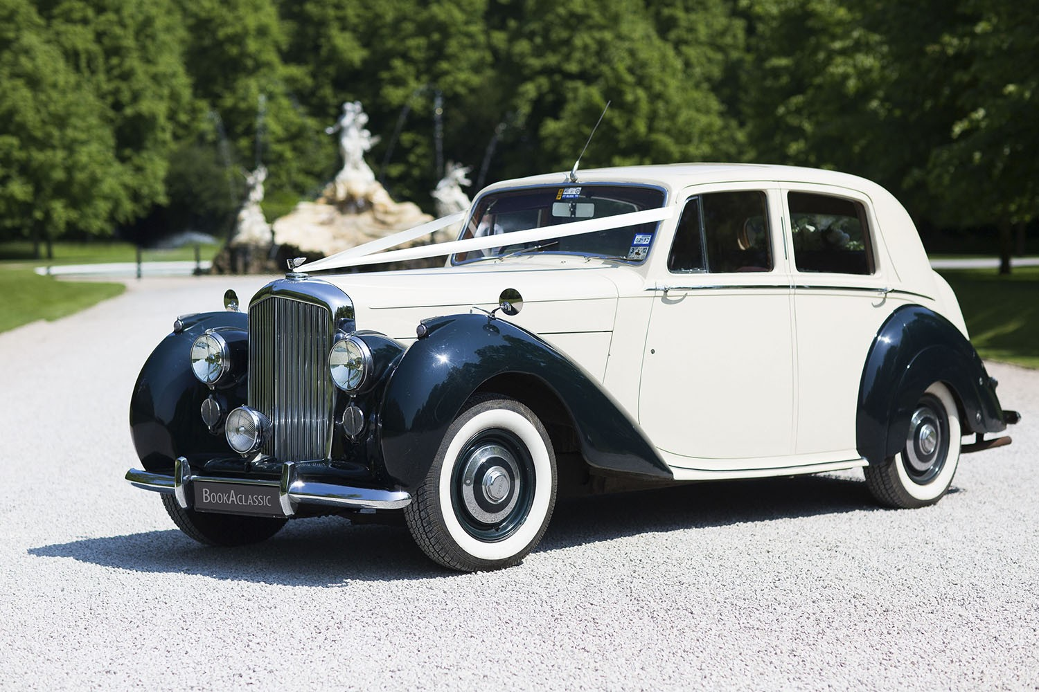 classic Bentley wedding car